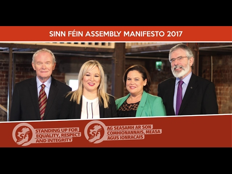 Sinn Féin Assembly Election Manifesto launch