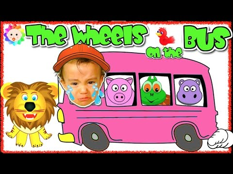 Thumbnail: The Wheels on the Bus Go Round and Round SONG 🚍 Bad Baby Crying and Learn Colors with Simple Songs