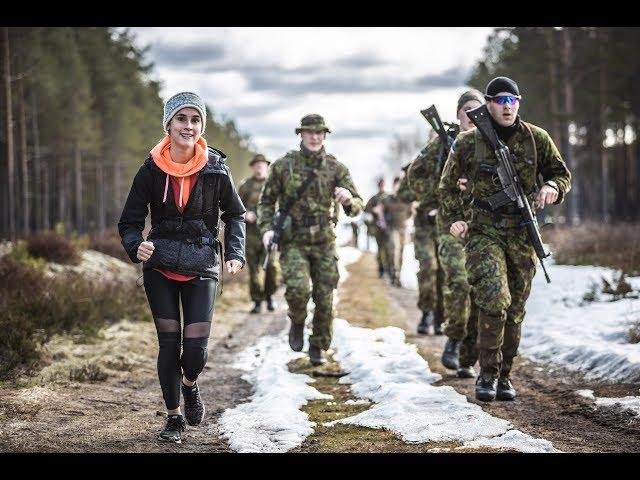 Эстонский президент совершила 30-километровый марш-бросок