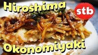 Delicious Hiroshima Okonomiyaki // Japanese Food in Nara, Japan
