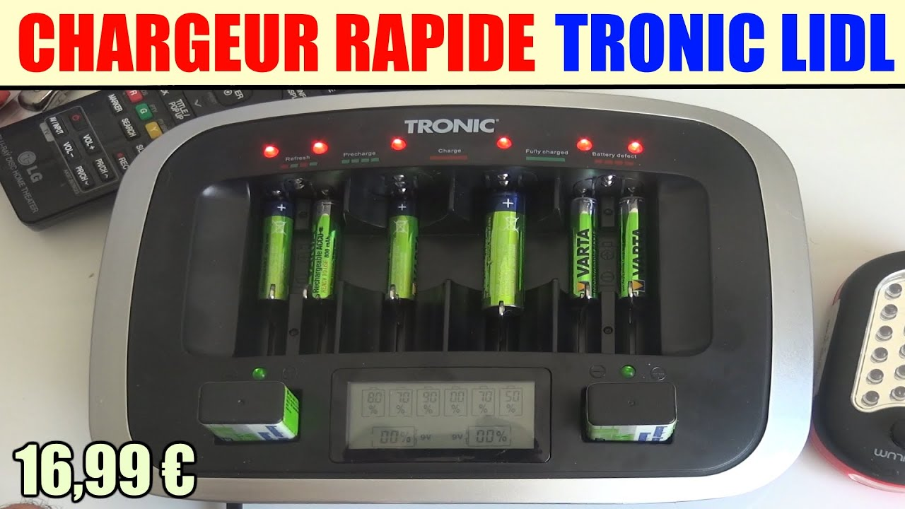 chargeur rapide piles tronic tlg 1000 c5 lidl rapid. Black Bedroom Furniture Sets. Home Design Ideas