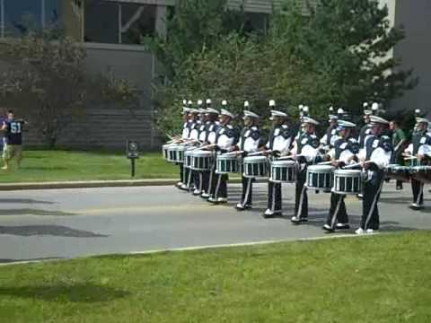 MSU Snare Line - march to ND Stadium 2009