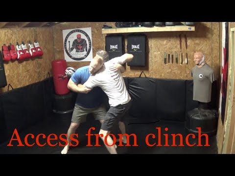 Set Up Elbows To Weapons Access From Clinch