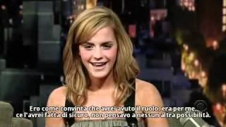 SUB ITA Emma Watson al Late Show with David Letterman 11 07 2007