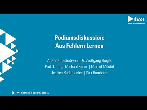 Technologietransfer-Kongress I Tag 1 I Podiumsdiskussion: Aus Fehlern lernen