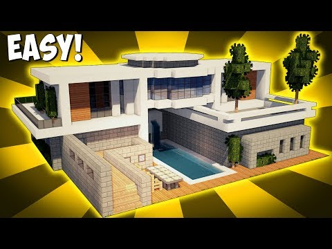 minecraft how to build a large modern house tutorial 20