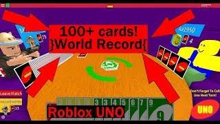 100+ cards! *World Record* Roblox Uno