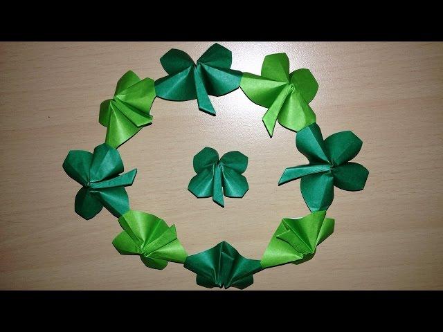 紙 折り紙 クローバー 折り紙 : youtube.com