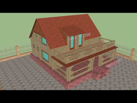 Европейский проект деревянной бани Б-2300 #ростерн #баня #проект #дом #строительство #брус