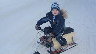 детский снегоход, буран своими руками, прикол, как сделать