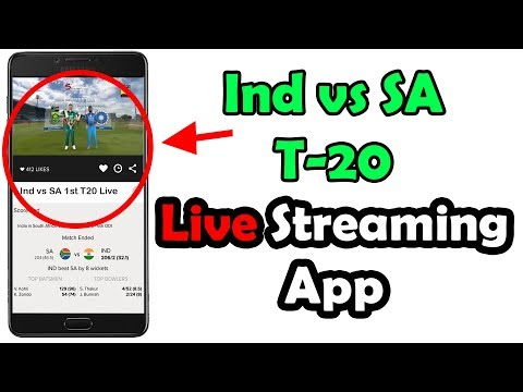 Ind vs SA T20 live Streaming App || india vs south africa live cricket Streaming App