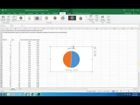 2 Making a pie chart using the sample data