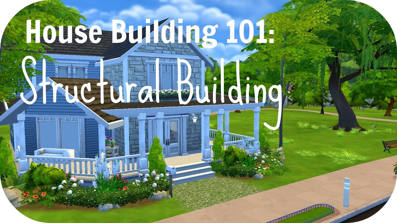 The Sims 4 Tutorial | Building Tips Pt.1: Structural Building  (Walls/Roofs...) | Shroomy Sims