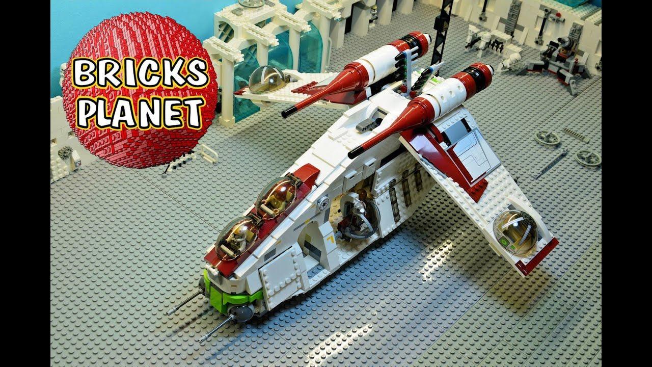 75021-1175 pieces star wars république gunship