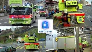 Alarmierung & Mitfahrt - Löschzug Schutz & Rettung Zürich FW Süd
