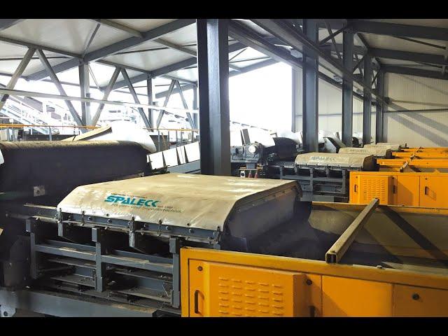 SPALECK ActiveCLEAN vibratory feeder slag processing / incinerator bottom ash treatment plant