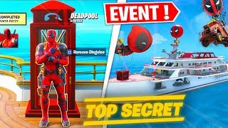 EVENEMENT DEADPOOL SUR FORTNITE ! DECOUVERTE NOUVEAU SKIN, YACHT, BOUTIQUE (FORTNITE SKIN DEADPOOL)
