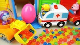Orbeez surprise eggs and Poli mini car toys play