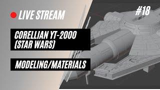 Blender 3D Modeling Stream--Star Wars YT 2000: Part 18