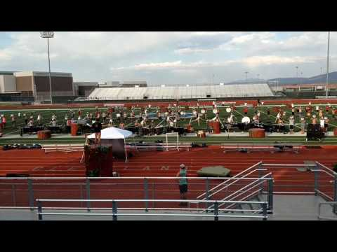 Academy Drumline and Bugle Corps rehearsing at Cleveland High School