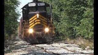 Train derailment on the ND&W Railroad