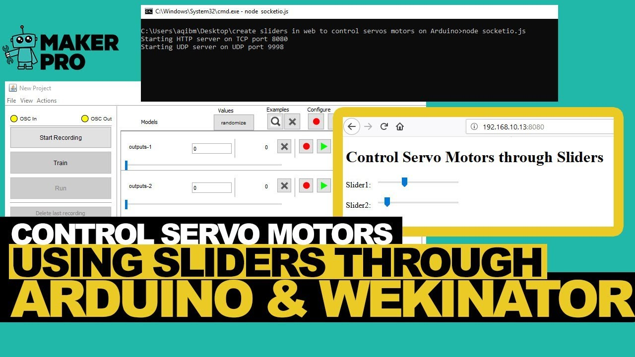 Learn to Control Servo Motors Using Sliders Through Arduino