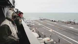 USS Theodore Roosevelt Pilots Perform Air Show