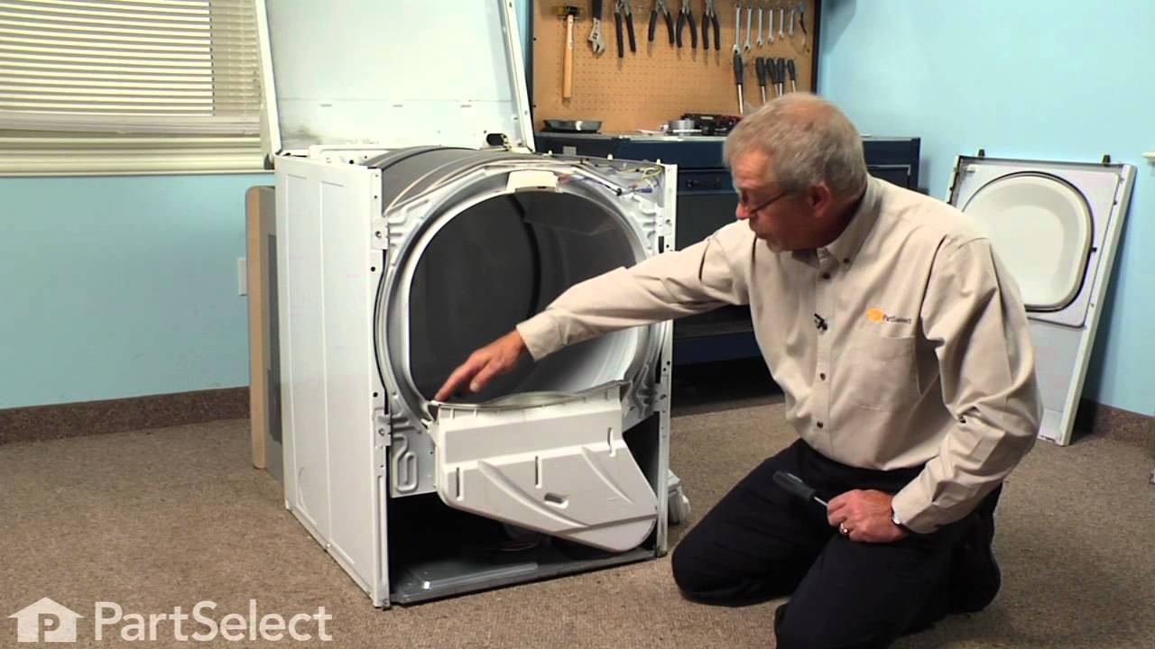 Dryer Repair Replacing The Lint Duct Assembly Whirlpool