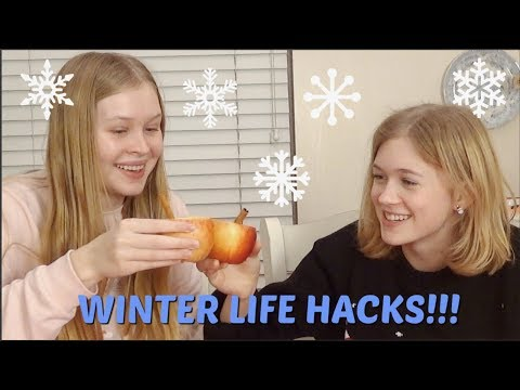 Winter Life Hacks With Katherine!  Really Rad Rachael