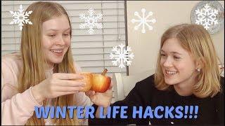 Winter Life Hacks With Katherine!   Really Rad Rachael
