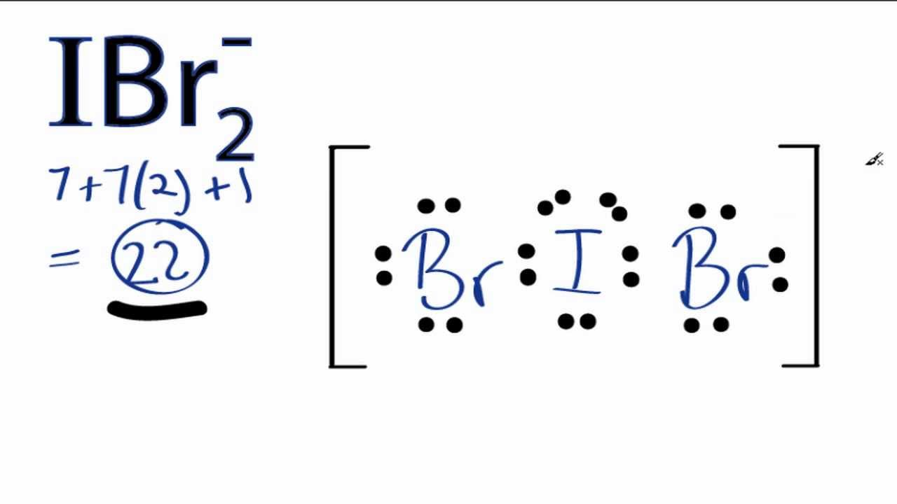 ibr2 lewis structure how to draw the lewis structure for ibr2 youtube [ 1280 x 720 Pixel ]
