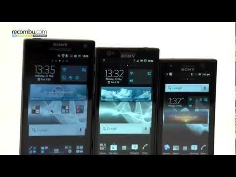 Sony Xperia S, Xperia P and Xperia U comparison