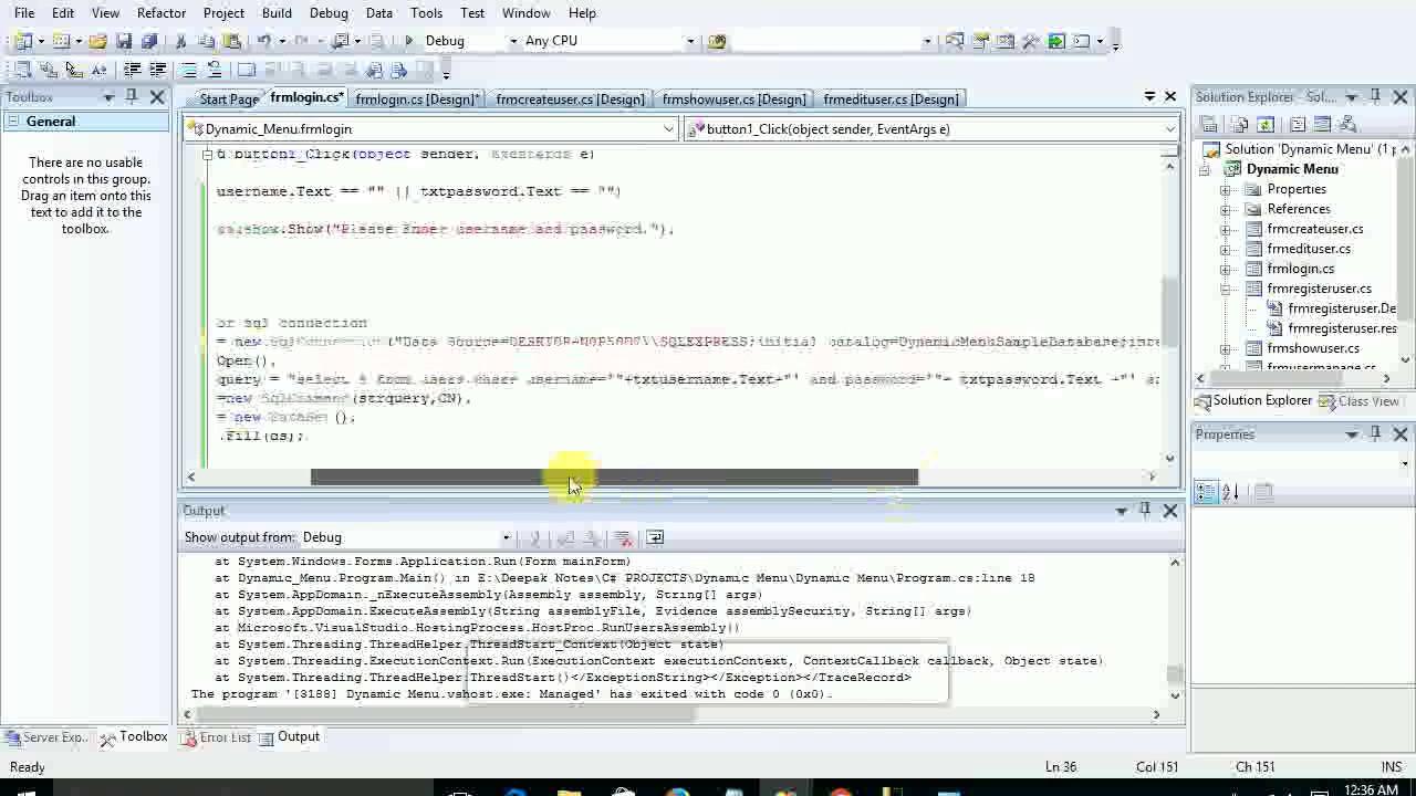 Dynamic Menu Items in C#