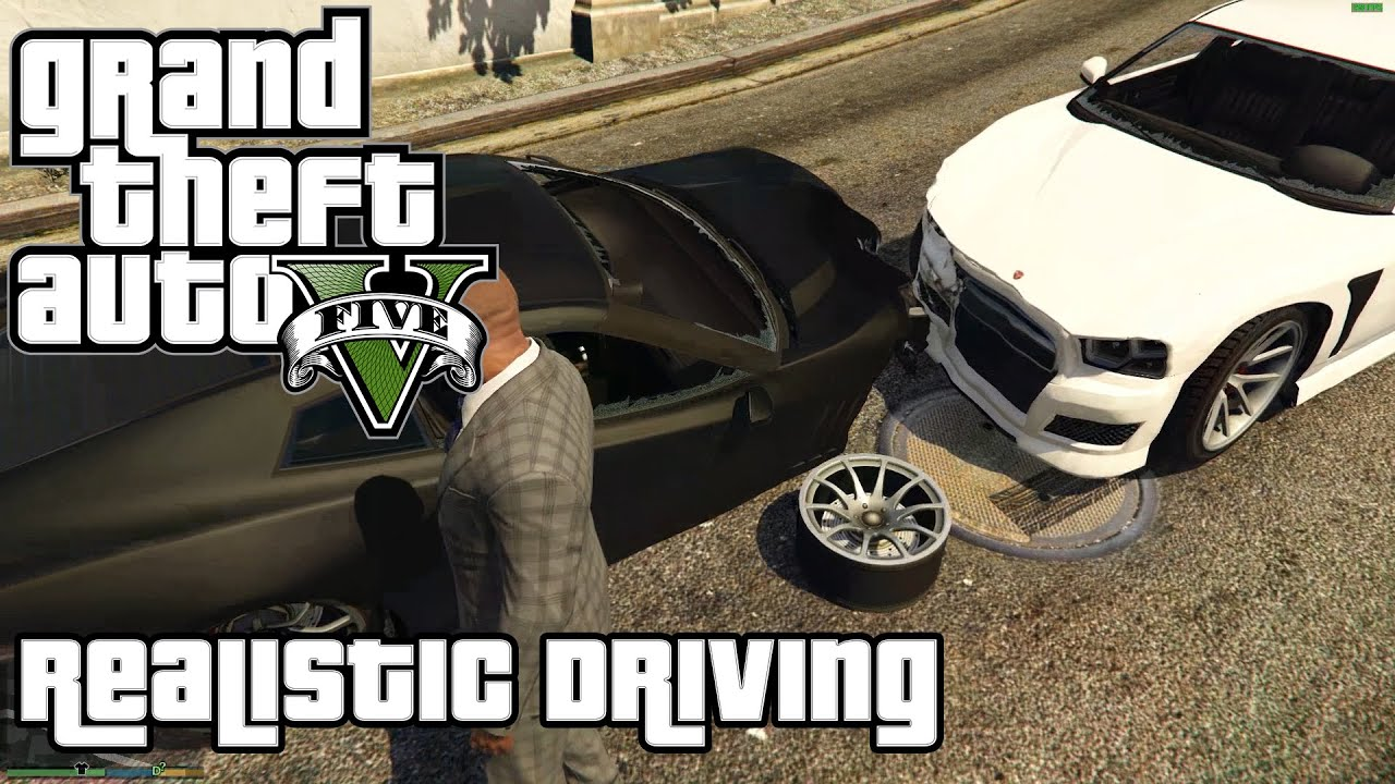 How to crash in GTA 5 | Realistic Driving Mod / OpenIV Tutorial