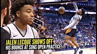 Jalen Lecque Throws Down CRAZY Windmill During Suns Open Practice Then Has a DANCE OFF!!