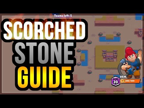 NEW Map Scorched Stone Guide! + Pam To 500 Trophies - Brawl Stars