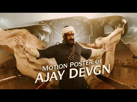 Ajay Devgn Motion Poster - RRR Movie   NTR, Ram Charan, Alia Bhatt   SS Rajamouli