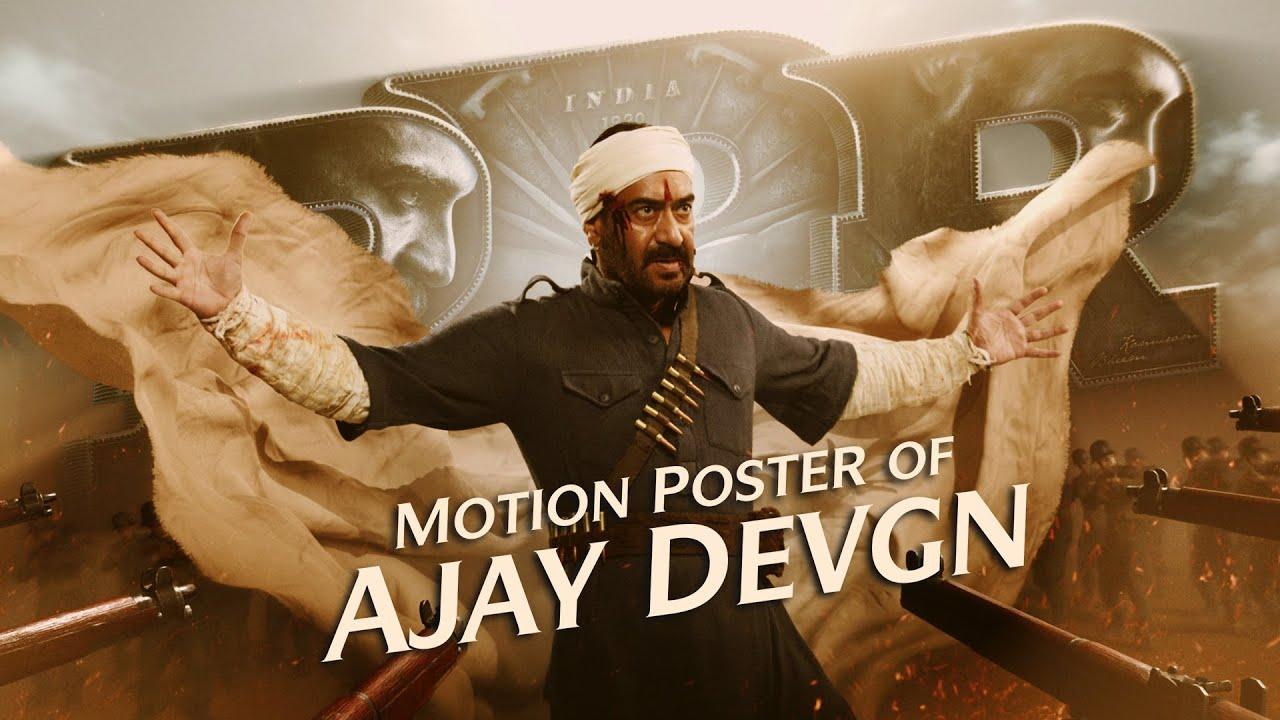 RRR Ajay Devgn's Motion Poster - Load, Aim, Shoot