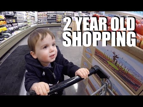 2 Year Old Shopping at Whole Foods
