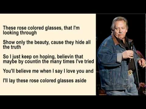 John Conlee - Rose Colored Glasses with Lyrics