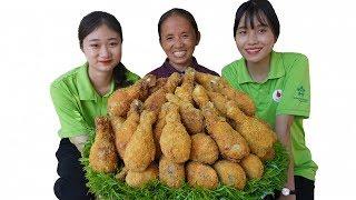 Bà Tân Vlog - Làm Mâm Đùi Gà KFC Khổng Lồ Ăn Mừng 3 Triệu Sub | KFC Chicken Thighs