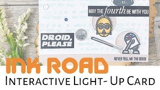 Droid Please Interactive Ink Road Stamps Card