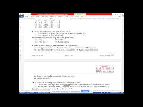 Important MCQ questions for Geography | Current Affairs 2019 | Geography