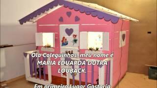 """Casinha de Boneca da MARIA EDUARDA  Parte II  """" Finalizada e Mobiliada """"."""