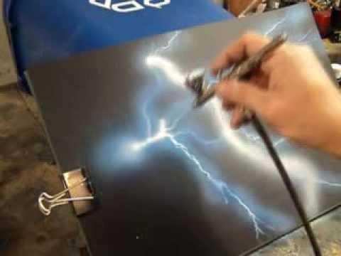Airbrush Practice - Lightning