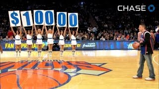 Knicks Fan Misses Three Shots But Wins $10,000 with Half-Court Heave