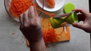 Нарезать морковь для салата по-корейски