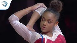 Melanie DE JESUS DOS SANTOS (FRA) - 2018 Artistic Gymnastics European Champion, floor