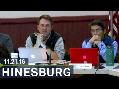 Hinesburg Selectboard: November 21, 2016