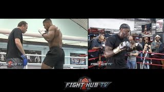 SIDE BY SIDE- ANTHONY JOSHUA VS DEONTAY WILDER COMPARISON - WHO LOOKS BETTER?